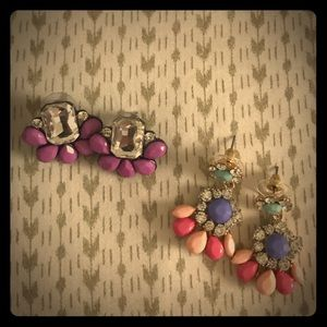 Jewelry - Set of two fun and colorful spring earrings!