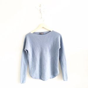 Vince Sweaters - Vince Sky Blue Cashmere Long Sleeve Sweater