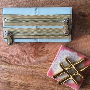 Coach Blue and Green Wallet