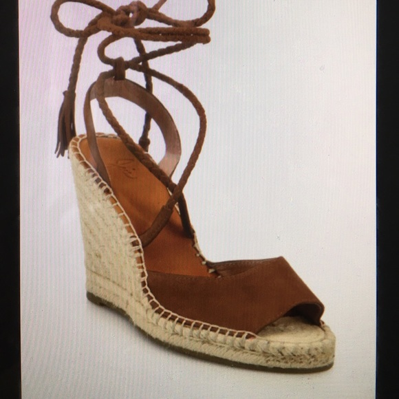 a3c87b78702 Joie Phyllis suede lace up espadrille wedge sandal