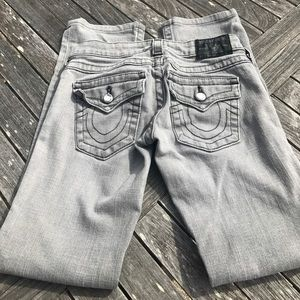 True Religion Denim - True Religion Disco Billy Gray Skinny Jeans 25