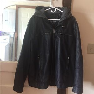 Other - Lack leather men's Guess jacket.