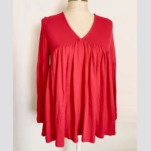 NWT ✨Anthropologie Red Boho Top ✨