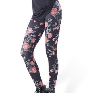 Blackmilk Pants - Blackmilk Red Rose Leggings