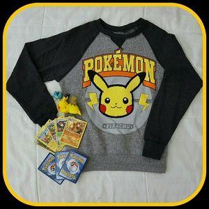 Pokemon Other - Pokemon Pikachu Raglan Sweatshirt