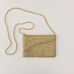 La Regale Handbags - La Regale Gold Beaded Purse