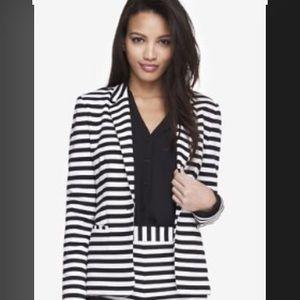 Express Jackets & Blazers - NWT Express Black & White Striped Blazer
