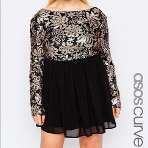 ASOS Curve Dresses & Skirts - ASOS Curve Sequin Long Sleeved Dress Size 20