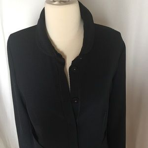 Armani Collezioni Jackets & Blazers - ARMANI COLLEZIONI AMAZING DARK BLUE KNIT JACKET