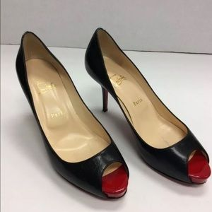 Christian Louboutin Shoes - Christian Louboutin Very Prive Peep Toe Pumps