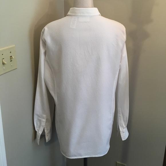 83 off liz claiborne tops liz claiborne crisp white for Crisp white dress shirt