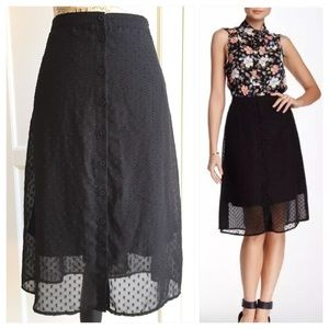 Daniel Rainn Dresses & Skirts - 💥Nordstrom Daniel Rainn Black Swiss Dot Skirt