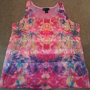 18/20 Lane Bryant tank with sequin details