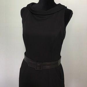 David Meister Dresses & Skirts - David Meister Size 6 Belted Black Pocket Dress