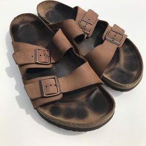 Birkenstock Other - Birkenstocks Classic Brown Leather 48 15