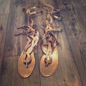 Colin Stuart Shoes - Colin Stuart Tall Golden Sandals