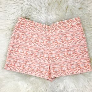 Xhilaration Pants - Tribal Embroidered Orange Beige Shorts