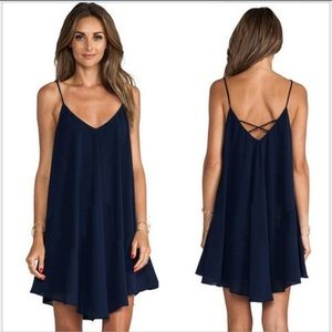Vogue Vice Dresses & Skirts - NWT navy chiffon tunic or mini dress
