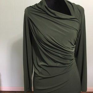David Meister Dresses & Skirts - NWT David Meister Green Long Sleeve Dress Size 8