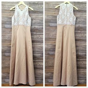 Jordan's Fashion nude and lace vintage gown