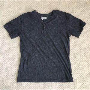 BKE Other - SALE! EUC Marled Charcoal BKE Short Sleeve Henley