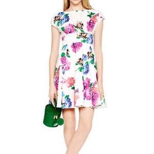 {kate spade} 🌿 blooms fit and flare dress
