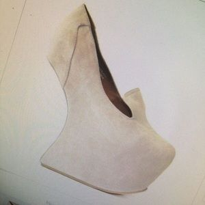 Jeffrey Campbell Heelless Suede Shoes