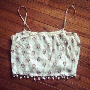 Babydoll cotton ball crop top