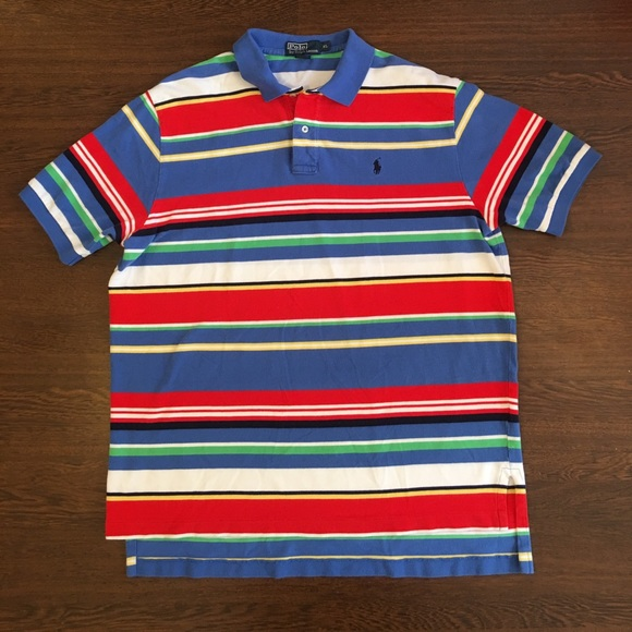 Polo By Striped Ralph Shirt Lauren Multicolor 8nP0kwO
