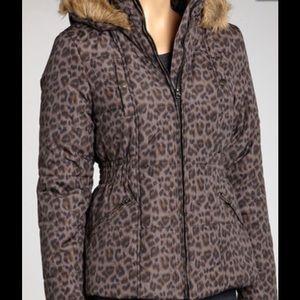 Krush Jackets & Blazers - Krush Puffer Leopard Puffer Coat NWOT
