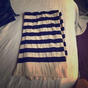 J.Crew beige/black striped scarf