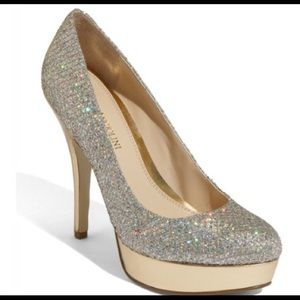 Enzo Angiolini Shoes - Enzo Angiolini Gold Sparkle Pump Heels