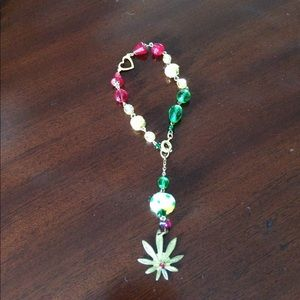 Jewelry - Mary Jane & Rasta inspired marijuana love bracelet