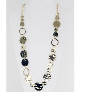 Adia Kibur Jewelry - Designer Adia Kibur Hammered Circles Necklace New
