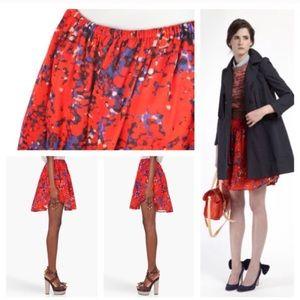 Carven Dresses & Skirts - Carven print elastic waist skirt