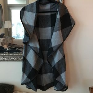 Fraas Sweaters - Fraas plaid cape