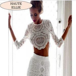 Haute Ellie Tops - 🆕 Brando Crochet Zipper Back Top