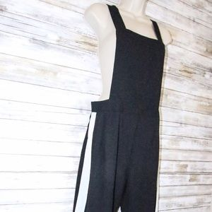 do & be Pants - Do & Be overalls black w/ white stripe sz M