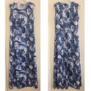 90s vtg club kid flower power maxi dress M L