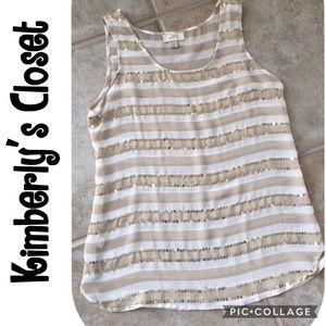 LOFT Tops - 🛍LOFT Sequin Striped Top🛍