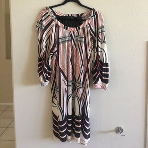ABS Printed Midi Dress, excellent used condition