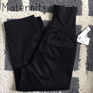 duo maternity Pants - Maternity black cropped pants sz M. NWT!