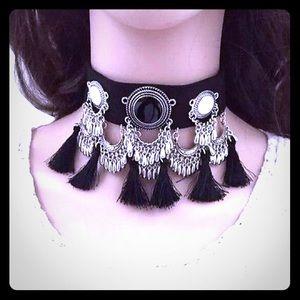 boutique Jewelry - 🏆2X HP🏆5⭐️RATED BOHO PU LEATHER TASSEL CHOKER