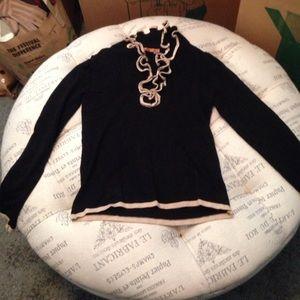 Belldini Sweaters - Belldini black ruffle sweater size small