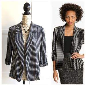 Olivia Moon Jackets & Blazers - Nordstrom Olivia Moon Gray Striped Knit Blazer