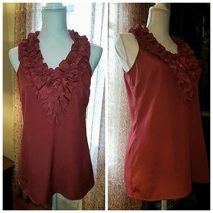 NY & Co. Ruffled Sleeveless Shirt