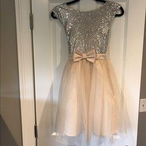 Zunie Other - Zuni Girls Size 14 Sequin Blush Dress Nordstrom