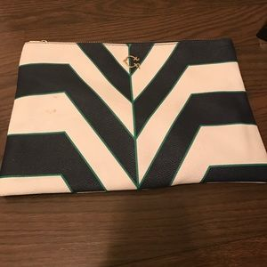 C. Wonder Striped Clutch