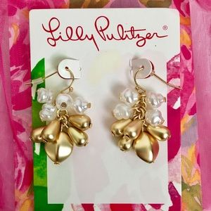 Lilly Pulitzer Gold Dangling Earrings