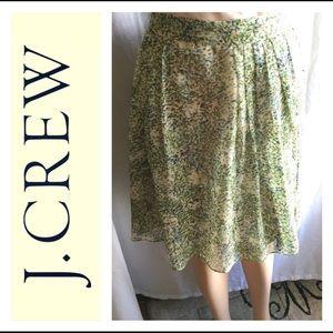 NWOT J.Crew Silk Skirt